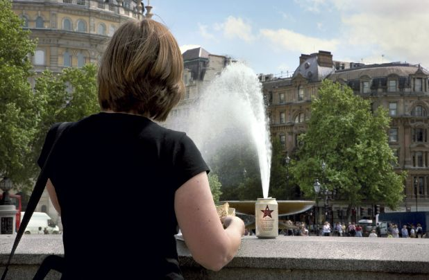 Another Nick Turpin Street Scene image this one captured in Trafalgar Square, London. I feel this image could have very easily been staged, however if it was not then I really appreciate the positioning of the can, and the angle it was taken so the fountain appears to be coming out of the can.