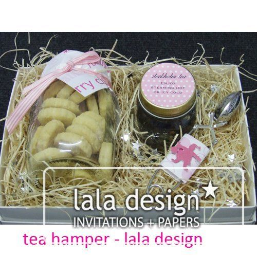 Pink Christmas tea hamper