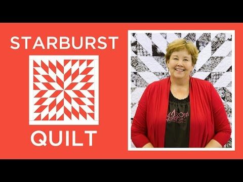 Make an Easy Starburst Quilt with Jenny | Missouri Star Quilt Company - YouTube | Bloglovin'