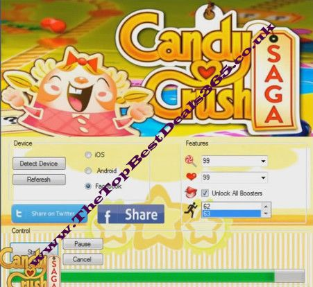 Candy Crush Saga 100% Working Tested Hack Tool 2014