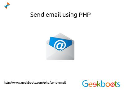 #PHP mail() function using to send #email from your web server. There have four default parameter and one optional parameter in mail() function. 4th parameter use to specify the email header. Without few mail header email will recognize as spam by spam filter. http://blog.geekboots.com/2015/05/send-email-using-php.html