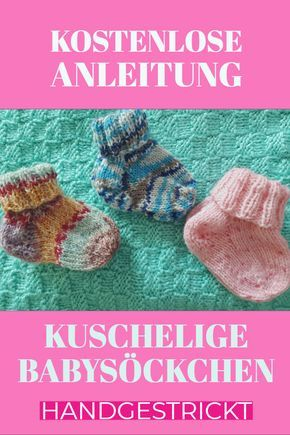 Hand-knitted baby socks for chubby warm feet!