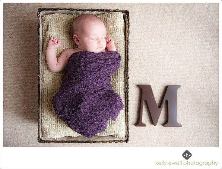 Natural light newborn baby portraits in Reston VA