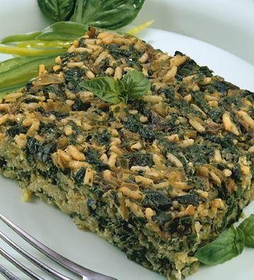 Budín verde #receta #facil #vegetariana