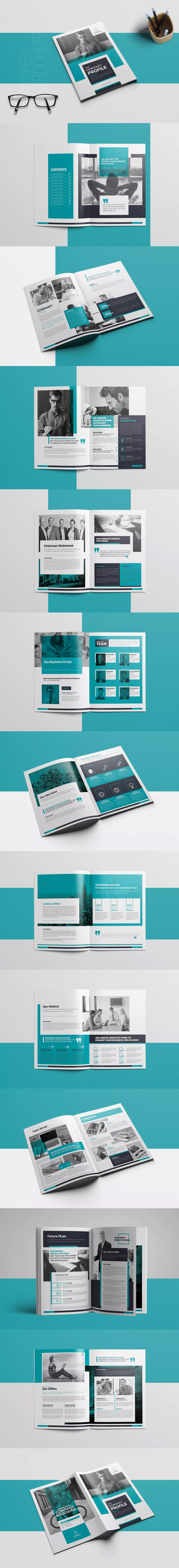 Company Profile Template InDesign INDD - A4 & US Letter Size
