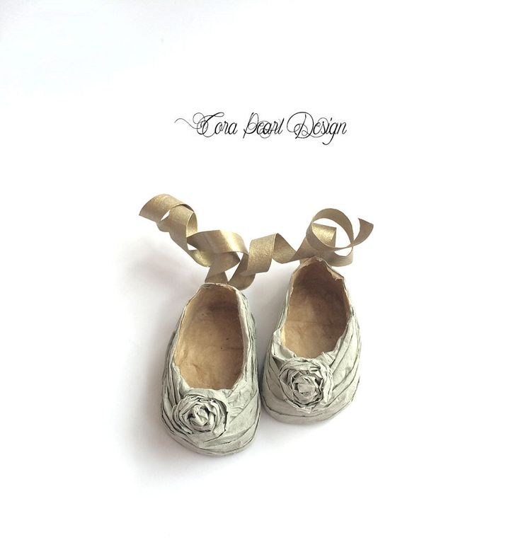 Hand Made Paper Dolls Shoes in Decorative Box  -  Sage green Paper Miniature Shoes  - Decorative Shoes ,   Shoe Ornaments ,  Doll Shoes by CoraPearlDesign on Etsy https://www.etsy.com/listing/449210270/hand-made-paper-dolls-shoes-in