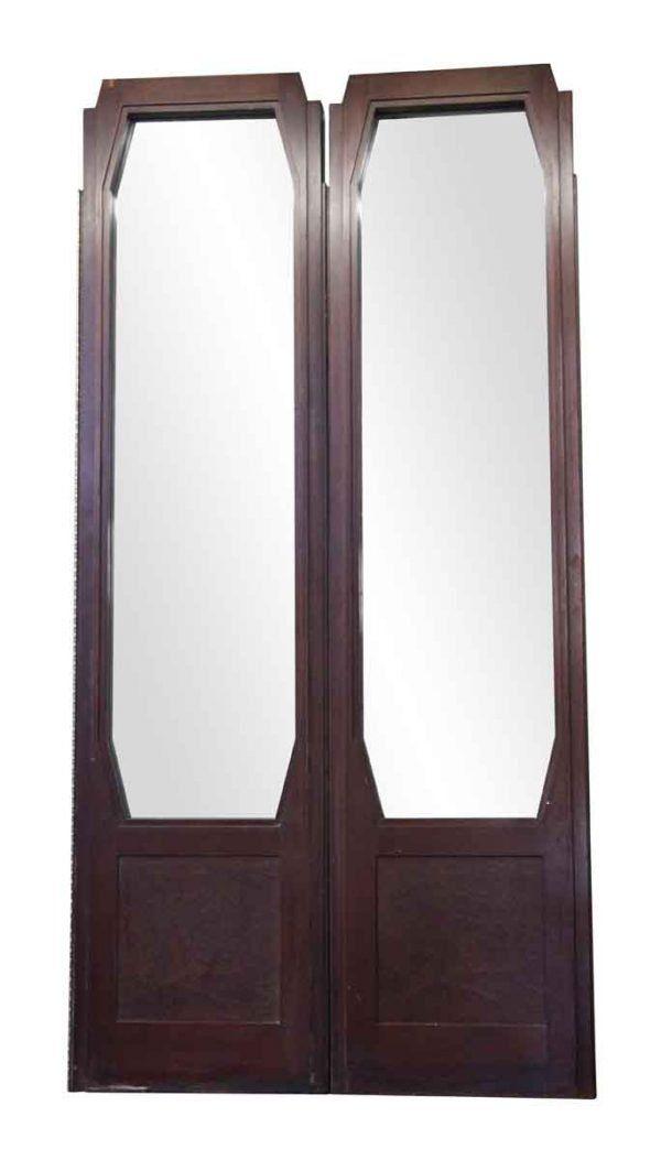 Waldorf Astoria Art Deco Style Walnut Double Doors 108 X 54 Art Deco Interior Art Deco Home Exterior Entry Doors
