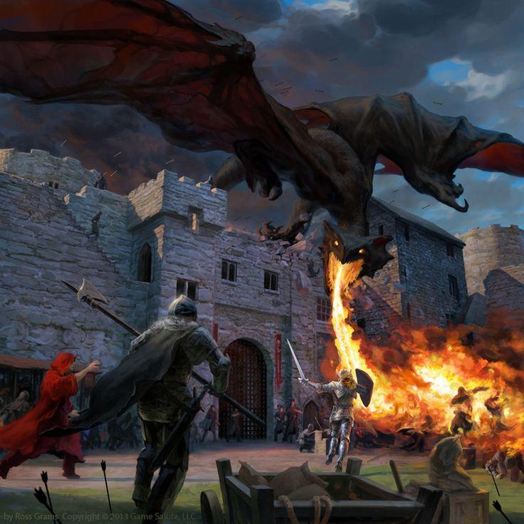 'Dragon Attacks Castle
