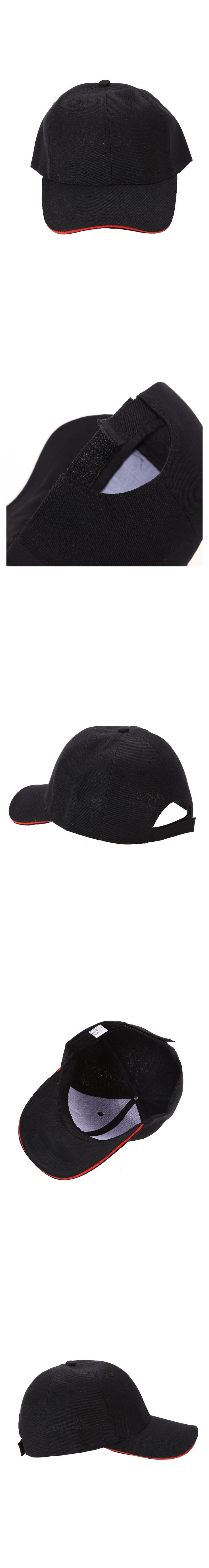 Unisex Sun Cap Outdoor Sports Hat Solid Color Baseball Cap Black