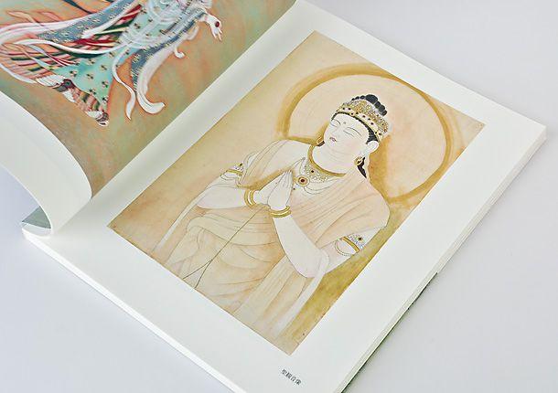 自費出版の制作事例として日本画の作品集「日本画へのあゆみ」を紹介しています。