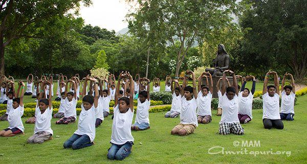 Yoga helps us to reconnect with nature and God - Amma, Mata Amritanandamayi Devi