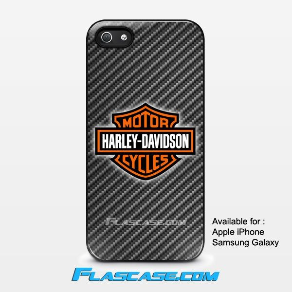 Harley Davidson Logo Carbon Apple iPhone 4/4s 5/5s 5c 6 6 Plus Samsung Galaxy S3 S4 S5 S6 S6 EDGE Hard Case