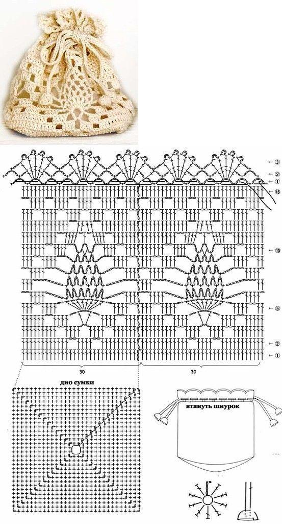A crochet pineapple little pouch - sweet handmade to hide treasures!♪ ♪ ... #inspiration_crochet #diy GB