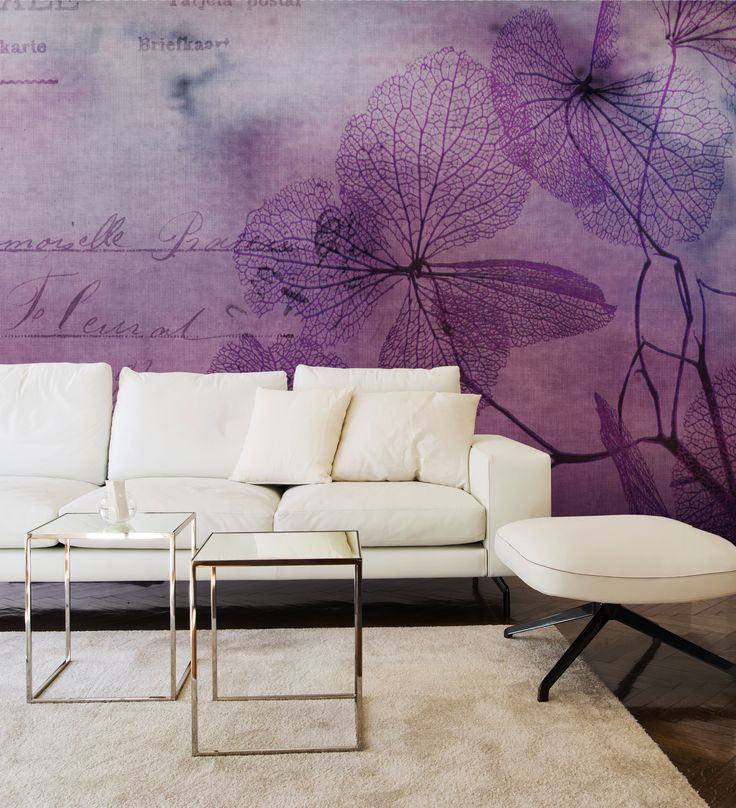 Panoramic wallpaper FLOWERS Watercolor Collection by N.O.W. Edizioni