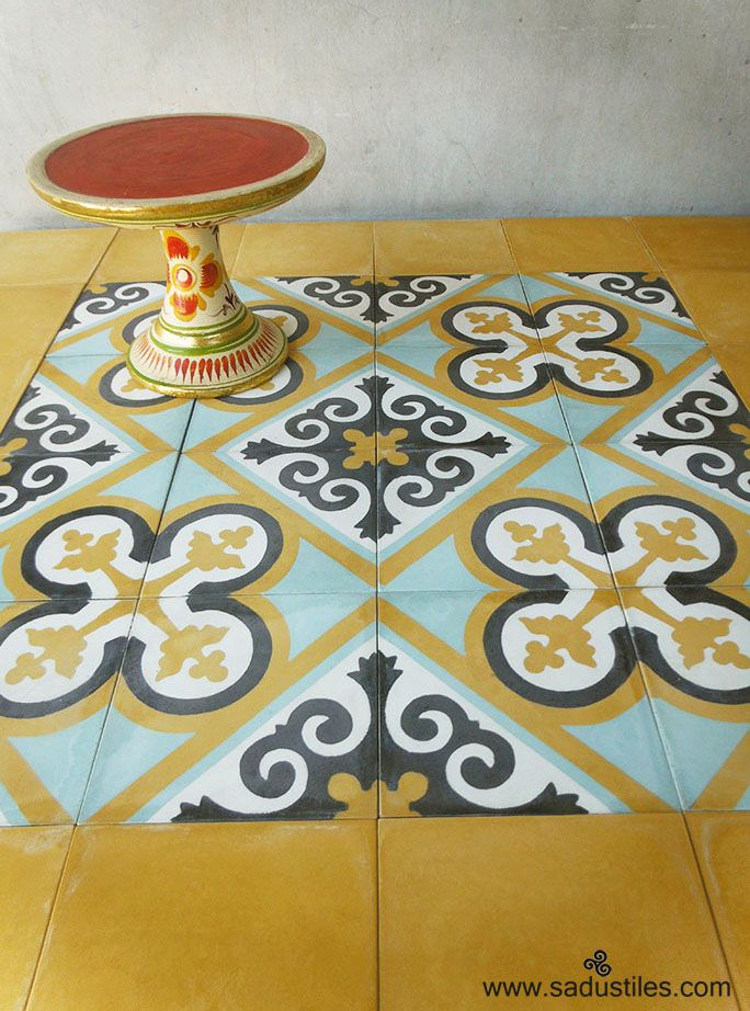 Sadus Tiles handmade cement tiles made in Bali - Indonesia