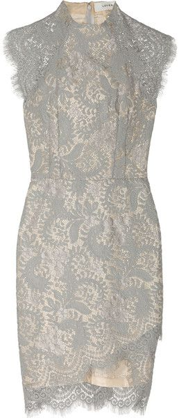 Lover Gray Sara Lace Dress
