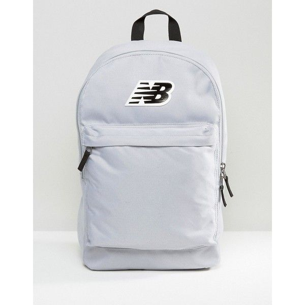 New Balance Classic Logo Backpack In Gray (115.850 COP) ❤ liked on Polyvore featuring bags, backpacks, grey, new balance, pocket bag, knapsack bag, zip bag and daypack bag