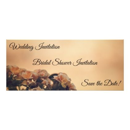 'Begonia Wedding' Invitation 389 - invitations custom unique diy personalize occasions