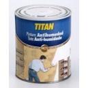 Titan antihumedad  Pintura impermeabilizante para interiores especial para resolver los problemas de humedad producidos por capilaridad, filtraciones de agua, etc.