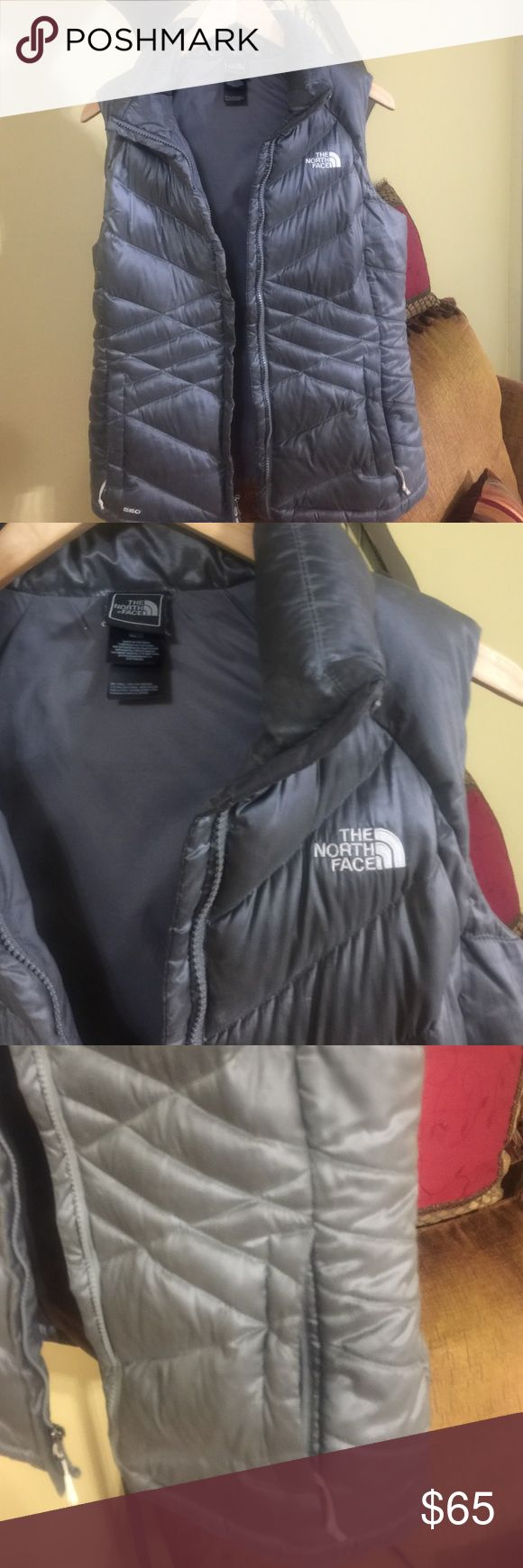 North face down west silver medium with zipper North face down west silver ! Size medium . Good condition and no damage . Has zipper and 2 side pockets . I love this jacket , but silver is not my favorite color . Can be dry clean or wash in washing machine in gentle cycle. North Face Jackets & Coats Puffers