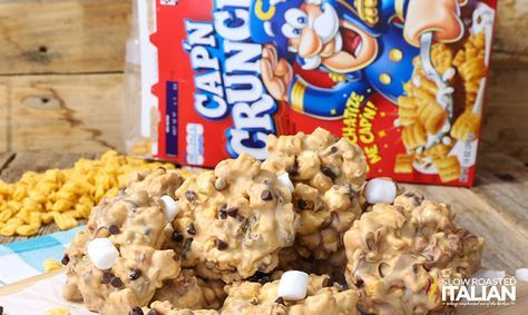 No-Bake Cap'n Crunch Avalanche Cookies