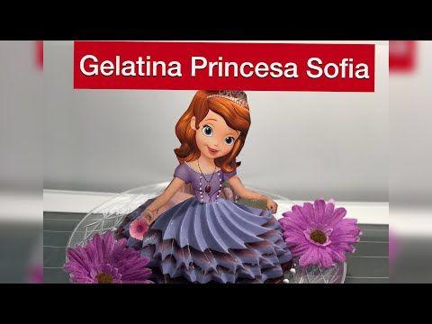 Gelatina de Princesa Cinderella - Para Mesa de Postres - YouTube