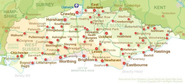 Map of Sussex (Chichester)