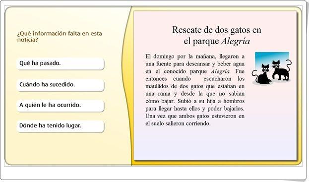 Redactar Una Noticia Juego De Textos De Educación Primaria Tipos De Texto Educacion Primaria Actividades De Letras