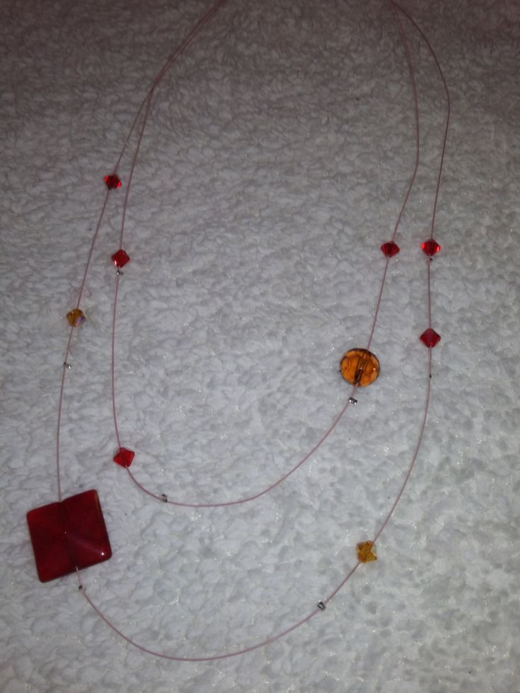red swarovski necklace by aggelinokosmos on Etsy