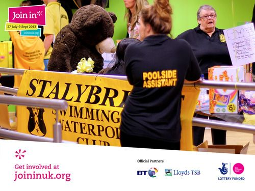Stalybridge swimming pool in Stockport hosted a fantastic day for Join In Summer 2013. Olympic swimmer Rebecca Adlington joined us to provide some  training, excitement and inspiration for young swimmers.