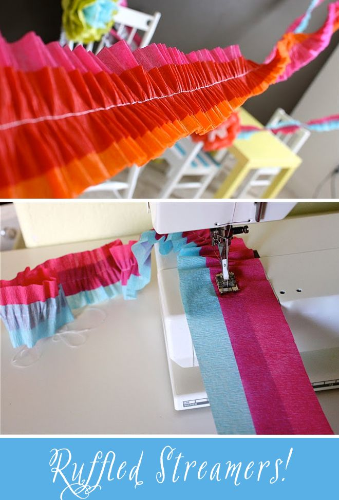 Tutorial: How to make Ruffled Crepe Paper Streamers! | Pizzazzerie