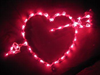 Arrow Heart Window Light - Valentine's Day Lighted Decorations