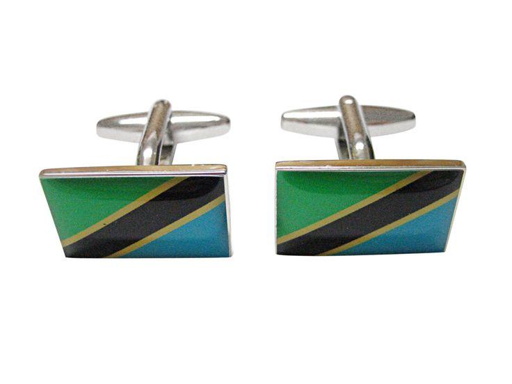 Tanzania Flag Cufflinks