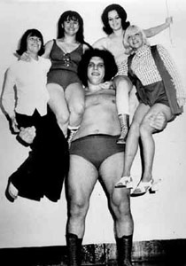 Andre the Giant had acromegaly.  He was 7'4'' and was 520 lbs at his top weight.  He developed joint and heart problems, and died of heart failure at age 46, several days after the death of his father.  Fun fact:  neighbor Samuel Beckett, the playwright, drove him to and from school, because Andre couldn't fit in the school bus seats.