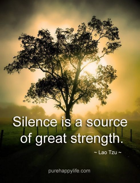 #quotes - Silence is a source...more on purehappylife.com