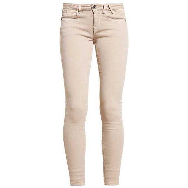 JEGGING Jeans Skinny beige ZALANDO ($105) ❤ liked on Polyvore featuring jeans, pants, jegging jeans, pink jeggings, skinny leg jeans, super skinny jeans and skinny jeggings
