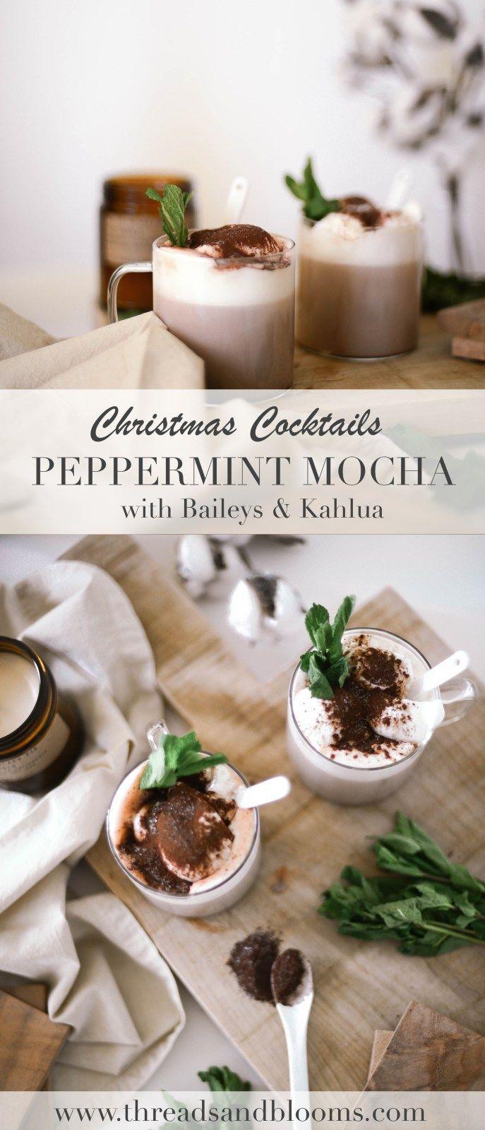 Christmas Cocktails Peppermint Mocha With Kahlua And Baileys Weihnachtscocktails Lebensmittel Essen Pfefferminze