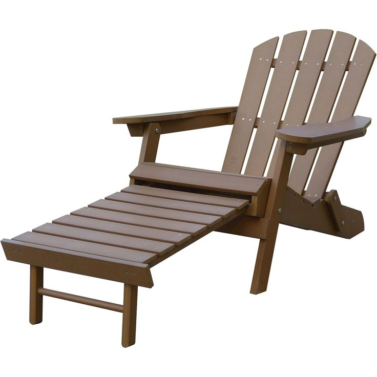 Stonegate Designs Composite Adirondack Chair with Built-In Ottoman — Brown, Model# 31396-A | Chairs| Northern Tool + Equipment