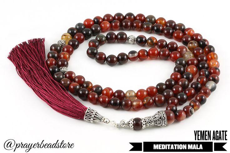 Yemen agate meditation mala #mala #meditation #agate