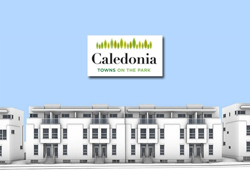 Caledonia Towns on the Park  It is a new townhouse project by Minto currently under construction at St Clair Ave W & Caledonia Park Rd.  The project has a total of 50 units.  From the low $300,000's    Pre-VIP Sales Now! - Contact me for details.
