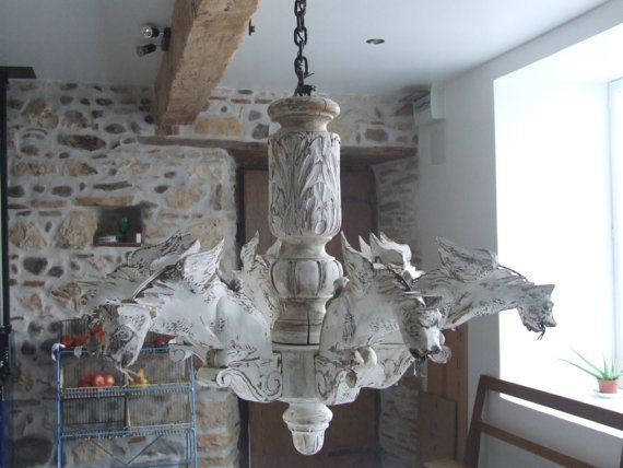 Antique Dragon Light // Large Gothic by VintageRetroOddities