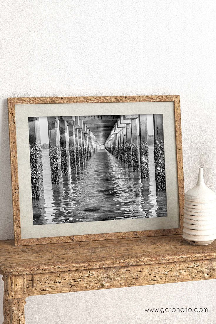 Nautical decor ideas - Coastal style for living room or bathroom wall prints. Fine art prints from $17! #blackandwhiteart #blackandwhiteartwork