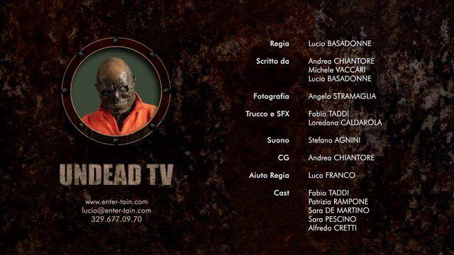 Promo per la web Series UNDEAD TV   UNDEAD TV Tv is not dead: Tv is undead    Un'esplosione atomica sconvolge la Terra. Dalle radiazioni, si sviluppa un virus che colpisce e ha effetto solo sui potenti, gli uomini famosi, i protagonisti della tv, rendendoli più forti ma trasformandoli in zombies   IL FORMAT L'assunto  La web serie, articolata in 10 episodi di durata variabile fra i 2 e i 5 minuti, presenterà di volta in volta un format televisivo rivisto in…