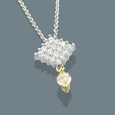 244 best solitaire pendants images on pinterest diamond necklaces this custom made 18k white and yellow gold marquise diamond solitaire pendant showcases a 055 aloadofball Choice Image