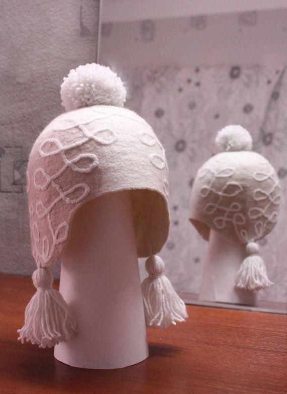 Felted hat Cream Cake by TatiLubav on Etsy, $58.00