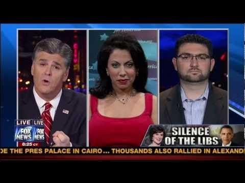 Brigitte Gabriel, president of ACT! for America, goes head to head with an Islamic studies professor on Hannity, debating who the Muslim Brotherhood is and the consequences of Muslim Brotherhood control and coming hard line sharia law in Egypt.  www.actforamerica...  Air Date: 9:00 Tuesday, December 4, 2012