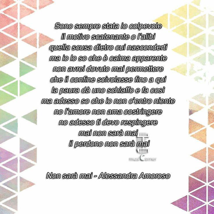 Non sarà mai - Alessandra Amoroso