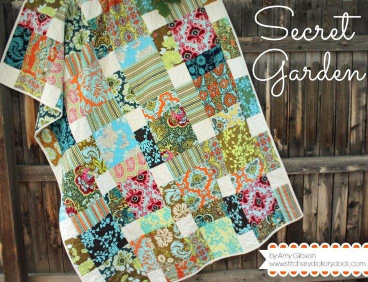Secret Garden Quilt Quilts Square Quilt Quilt Patterns
