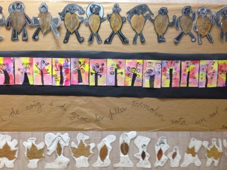 TARDOR - Material: cartolina, fulles, ceres toves, aquarel·les, tisores, cola - Nivell: P5 INF 2015/16 Escola Pia Balmes