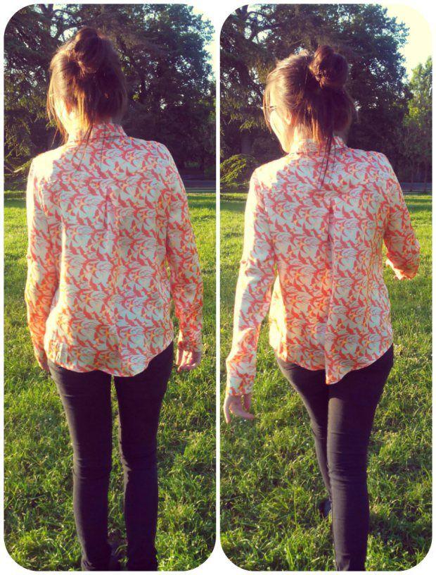 Couture/ Chemisier en satin. Handmade Shirt